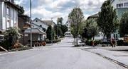 Die Weinfelderstrasse in Münchwilen ist wegen Belagsarbeiten derzeit autofrei. Künftig gilt hier eine Parkzeitbeschränkung auf zwei Stunden. (Bild: Nicola Ryser)