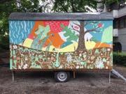 Auch der Bauwagen beim Dammgärtli erhielt mit Hilfe der Anwohner einen neuen Anstrich.