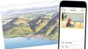 Von traditionellen Ansichtskarten bis zu personalisierten E-Postkarten: Feriengrüsse werden heute auf verschiedene Weise verschickt. (Bild: ETH-Bibliothek Zürich/Montage: chm)