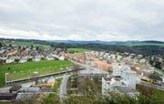 Sicht vom Kantonsspital auf das Quartier Huben. (Bild: Andrea Stalder)
