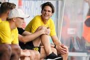 Im Grand Ressort Bad Ragaz bereitet sich der Thurgauer Marwin Hitz mit Borussia Dortmund auf die neue Saison vor. Am Dienstagabend spielt er gegen den FC St.Gallen. (Bild: Claudio Thoma, Altach, 27. Juli 2019)
