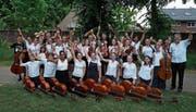 Das Streicherensemble Vivaldissimo gehörte nebst viel Prominenz zu den Gästen im Kinderdorf. (Bild: PD)