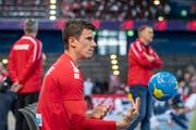 Luzerner Leader der Schweizer Handballer: Andy Schmid. (Bild: Urs Flüeler/Keystone, Zug, 12. Juni 2018)