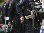 Beamte der mexikanischen Bundespolizei. (Bild: KEYSTONE/AP/MARCO UGARTE)