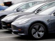 Tesla erreicht Auslieferungsrekord im zweiten Quartal. (Bild: KEYSTONE/AP/DAVID ZALUBOWSKI)