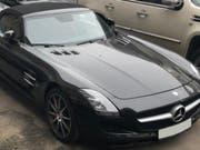 Nach einer über 5000 Kilometer langen Odyssee ist ein in Cham gestohlener Mercedes aus Moskau wieder in die Schweiz zurückgeführt worden. (Bild: Zuger Polizei)
