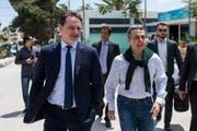 Aussenminister Ignazio Cassis und UNRWA-Generalsekretär Pierre Krähenbühl bei einem Besuch in der jordanischen Hauptstadt Amman im Mai 2018. (Bild: KEYSTONE/Ti-Press/Gabriele Putzu)