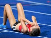 Fabienne Schlumpf wird in dieser Saison vom Verletzungspech verfolgt und kann keine Rennen bestreiten (Bild: KEYSTONE/WALTER BIERI)