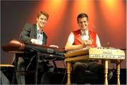 Elias Bernet und Nicolas Senn spielen Boogie-Woogie. (Bild: PD)
