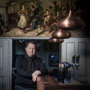 Saemi Honegger im Restaurant Eichhof, das er seit 2017 gepachtet hat. (Bild: Pius Amrein, Luzern 20. Dezember 2017)