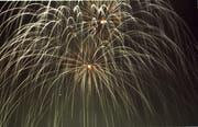 Bildtext: Feuerwerk zum Neujahr St.Gallen.crcr