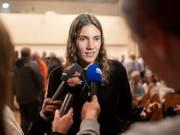 Noch nicht reif für die Politik: Topmodel Tamy Glauser zieht ihre Kandidatur zurück. Sie hatte behauptet, Veganerblut könne Krebs heilen. (Bild: KEYSTONE/ENNIO LEANZA)