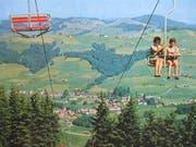Der Sessellift Hochhamm in Schönengrund wurde 1994 abgebrochen. Die Eröffnung war im Herbst 1965. (Bild: PD)