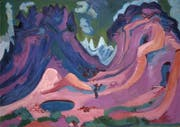 Ernst Ludwig Kirchner hinterlegte die «Amselfluh» 1922 mit kaltem Grün-Bau. (Bild:Kunstmusum Basel)