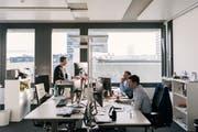 Blick in die Büroräumlichkeiten der Finanzinfrastrukturbetreiberin SIX.Bild: Christian Beutler/Keystone (Zürich, 5. Juli 2019)