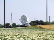 Sicht auf die Empfangsstation des Onyx-Systems des Nachrichtendienstes des Bundes. (Bild: Keystone)