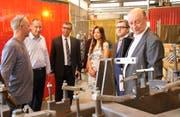Betriebsbesichtigung bei der Neuweiler AG in Kreuzlingen anlässlich der Vertragsunterzeichnung. (Bild: PD)