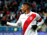 Paolo Guerrero steht mit Peru im Final der Copa America (Bild: KEYSTONE/EPA EFE/SEBASTIAO MOREIRA)
