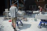Im Werkhof Appenzell werden die Brückenteile angefertigt. Bild: Karin Erni