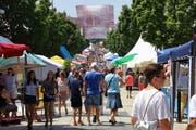 Bis zu 20 000 Besucher strömen jeweils ans Stadtfest Wil. (Bild: Archiv)