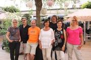 Die beiden neuen Vorstandsmitglieder Gianni Ceraolo (2. von links) und Ursi Wildhaber (2. von rechts) mit den neuen Mitgliedern (von links) Karin Zingg, Roland Steiger, Corinne Pozzan, Meinrad Keel und Nicoletta Ceraolo. (Bild: pd)