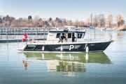 Die Seepolizei beim Yachthafen Kreuzlingen. (Bild: Andrea Stalder/ 15.2.2019)