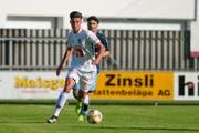Der Luzerner David Mistrafovic (weisses Trikot) beim Testspiel gegen den FC Winterthur. (Bild: Martin Meienberger/freshfocus, Brunnen 26. Juni 2019)