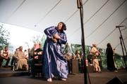 Tanzeinlage des ägyptischen Mazaher-Ensembles. (Bild: Manuela Jans-Koch, Giswil, 4. Juli 2019)