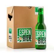 Wurde nicht vom FC St.Gallen in Auftrag gegeben, sondern vom Getränkehandel Piff-Paff: das Espen-Bier. (Bild: PD)