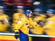 In der schwedischen Nationalmannschaft seit vielen Jahren eine feste Grösse: der neue Lions-Center Marcus Krüger (Bild: KEYSTONE/EPA/CHRISTIAN BRUNA)