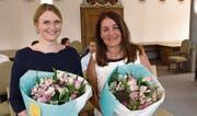 Gerichtsschreiberin Véronique Pfleger (links) und Kantonsrichterin Monica Hübscher-Bucher. (Bild: Kurt Liembd, Stans: 6. Juli 2019)
