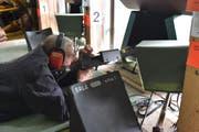 Emil Sturzenegger aus Rehetobel nimmt zum 65. Mal am Vögelinseggschiessen teil. (Bilder: Mea McGhee)