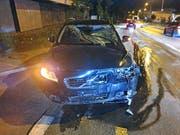 Der alkoholisierte Autofahrer blieb beim Verkehrsunfall in Sulgen unverletzt. (Bild: Kapo TG)