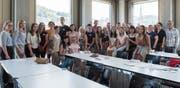Studierende aus der Ukraine und der Schweiz an einem Workshop an der FHS St.Gallen.Bild: Adriana Ortiz Cardozo