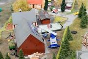 Die Ausstellung zeigt erneuerbare Energien im Miniaturformat. (Bild: Donato Caspari)