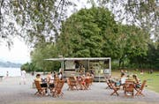 Die «Beach-Bar» in der Luzerner Ufschötti. (Bild: PD)