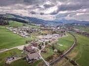 Ansicht der Gemeinde Honau (im Vordergrund) mit Root und Gisikon im Hintergrund. Bild: Pius Amrein (Honau, 8. April 2019)