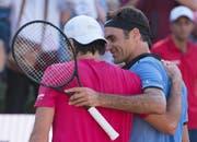 2017 in Stuttgart feiert Tommy Haas gegen Roger Federer seinen letzten Sieg auf der ATP-Tour. (Bild: Keystone)
