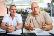 Der langjährige Frauenteamleiter Sandro Brasi (links) und Frauenteamgründer Marcel Herzog sind der Meinung, dass ein Verein nicht wie eine Firma geführt werden könne. (Bild: Urs Bucher)
