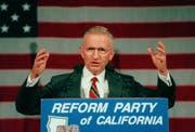 Ross Perot bei seiner erneuten Präsidentschaftskandidatur 1996. (Bild: Keystone)