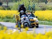 Könnte nach seinen Siegen 2018 und 2019 im nächsten Jahr an der Tour de Romandie den Hattrick anstreben: Der Slowene Primoz Roglic (Bild: KEYSTONE/MARTIAL TREZZINI)