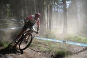 Bereits im Short Race wurde viel Staub aufgewirbelt. Im Bild Reto Indergand. (Bild: Roland Jauch, Andorra, 8. Juli 2019)