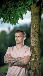 Elvis Bratanovic ist in der Region heimisch geworden und stürmt nun für den FC Schötz. Bild: Pius Amrein (Altishofen, 29. Juli 2019)