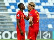 Dodi Lukebakio (links) in einem Spiel mit der belgischen U21-Auswahl (Bild: KEYSTONE/EPA ANSA/ALESSIO TARPINI)
