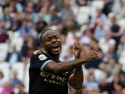 Raheem Sterling freut sich über seinen dritten Treffer zum 5:0 (Bild: KEYSTONE/AP/KIRSTY WIGGLESWORTH)