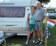 Heute treten Aly und Bert Kooistra die 861 Kilometer lange Heimreise an. In den vergangenen 50 Jahren hat das niederländische Paar zwischen Heerenveen und St.Margrethen über 86'000 Kilometer zurückgelegt, mehr als den doppelten Erdumfang. (Bild: Kurt Latzer)