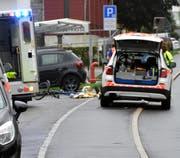 Die Unfallstelle in Einsiedeln. (Bild: Leserreporter)