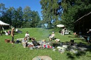 Rund vierzig Besuchende kamen an das Familienlandsitzfestival. Bild: Michael Hug