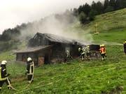 Die Feuerwehr konnte den Brand rasch unter Kontrolle bringen (Bild: Kantonspolizei Obwalden)