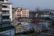 Die Aufenthaltsqualität am Sonnenplatz in Emmenbrücke soll verbessert werden – das wünscht sich die Bevölkerung gemäss Online-Umfrage. (Bild: Boris Bürgisser, 23. Januar 2019)